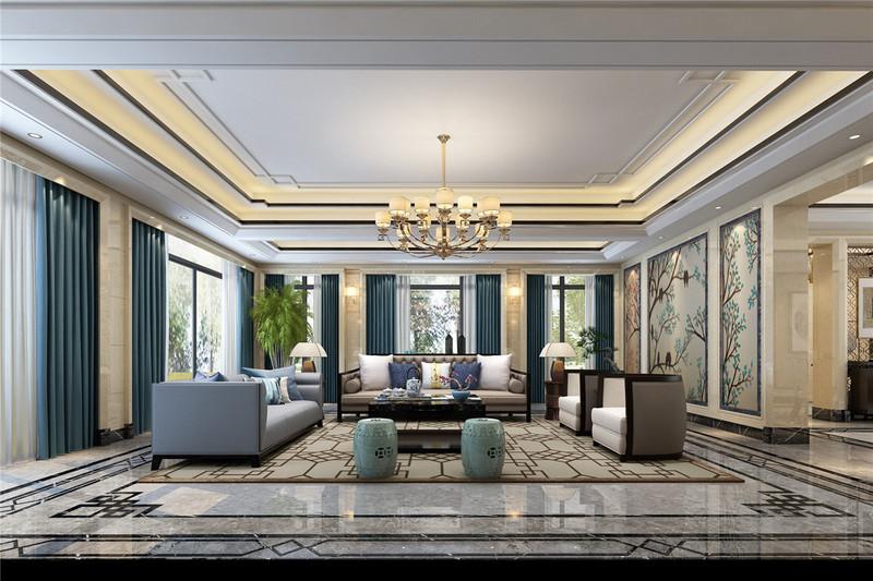110平米英式田园风格装修-客厅