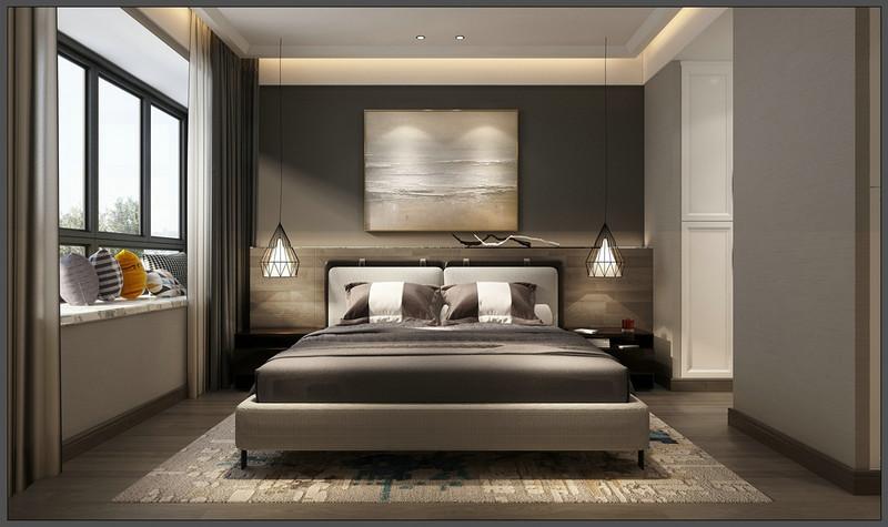 现代风格装修设计-卧室装修效果图