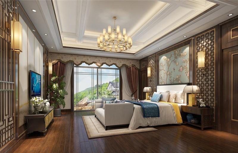 110平米英式田园风格装修-卧室