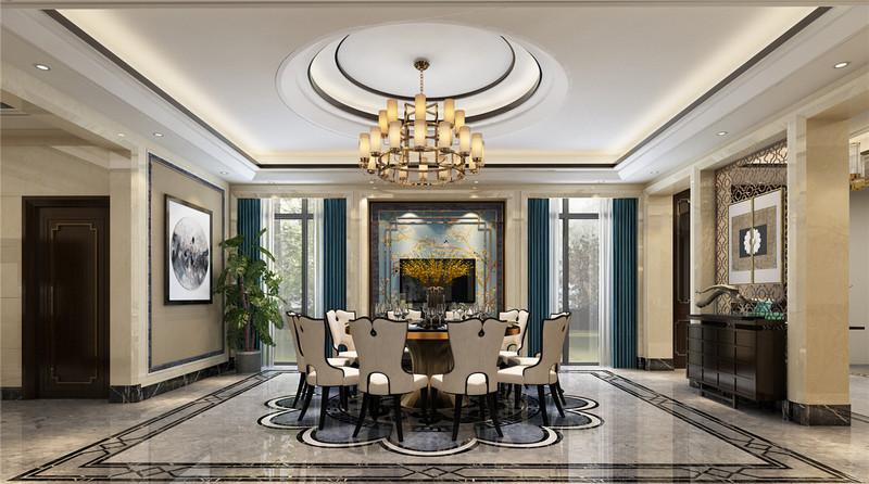 110平米英式田园风格装修-餐厅