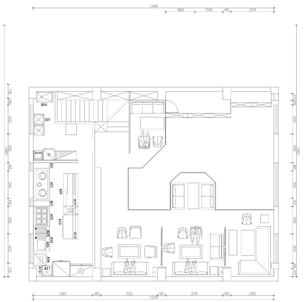 隐酒350平米工业风格装修效果图装修设计理念