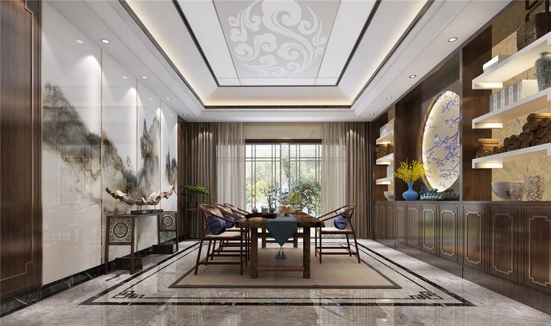 110平米英式田园风格装修-茶室