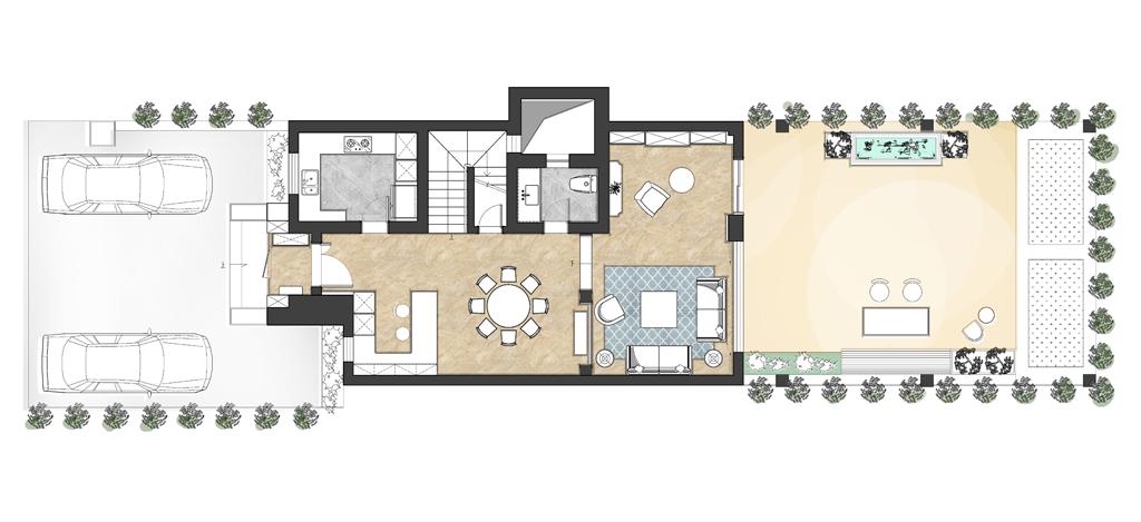 四季雅苑-美式风格-280平米装修设计理念