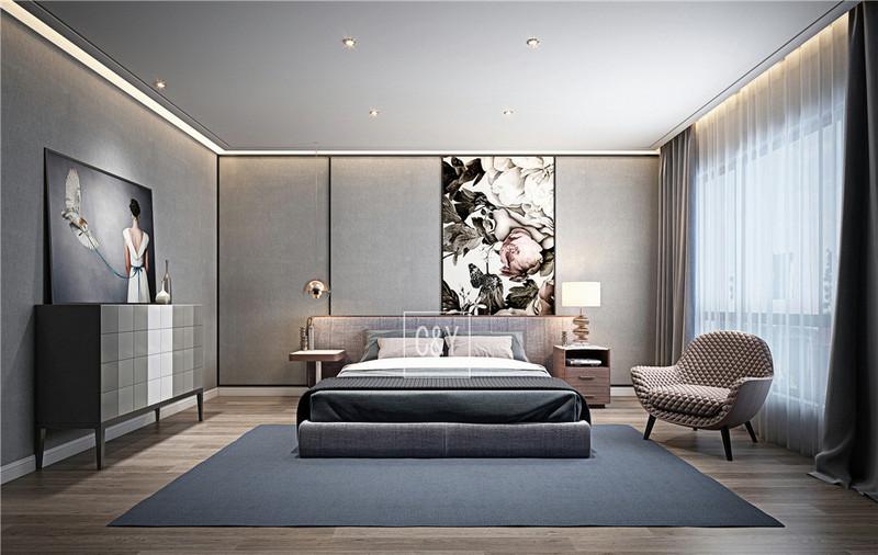 132平米美式简约风格装修-卧室