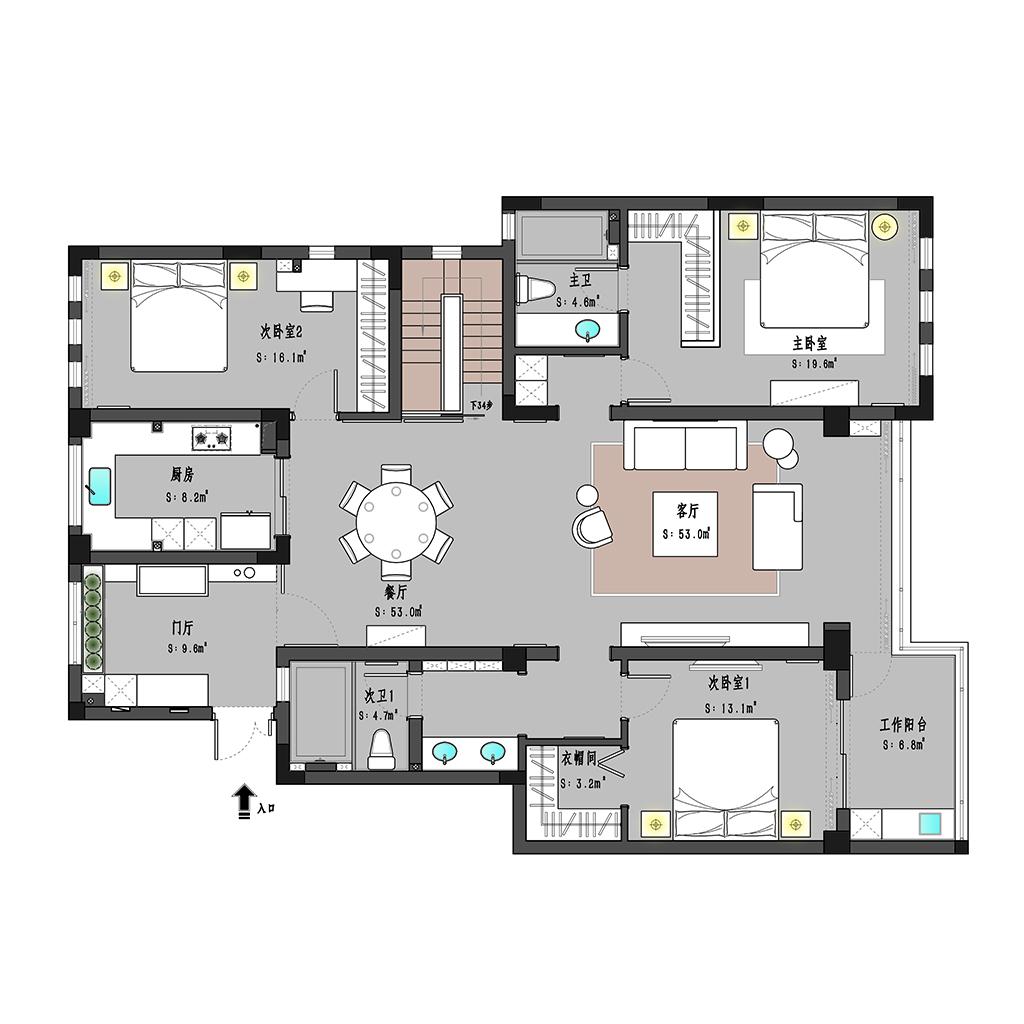 金科世界城 现代风格 230㎡装修设计理念