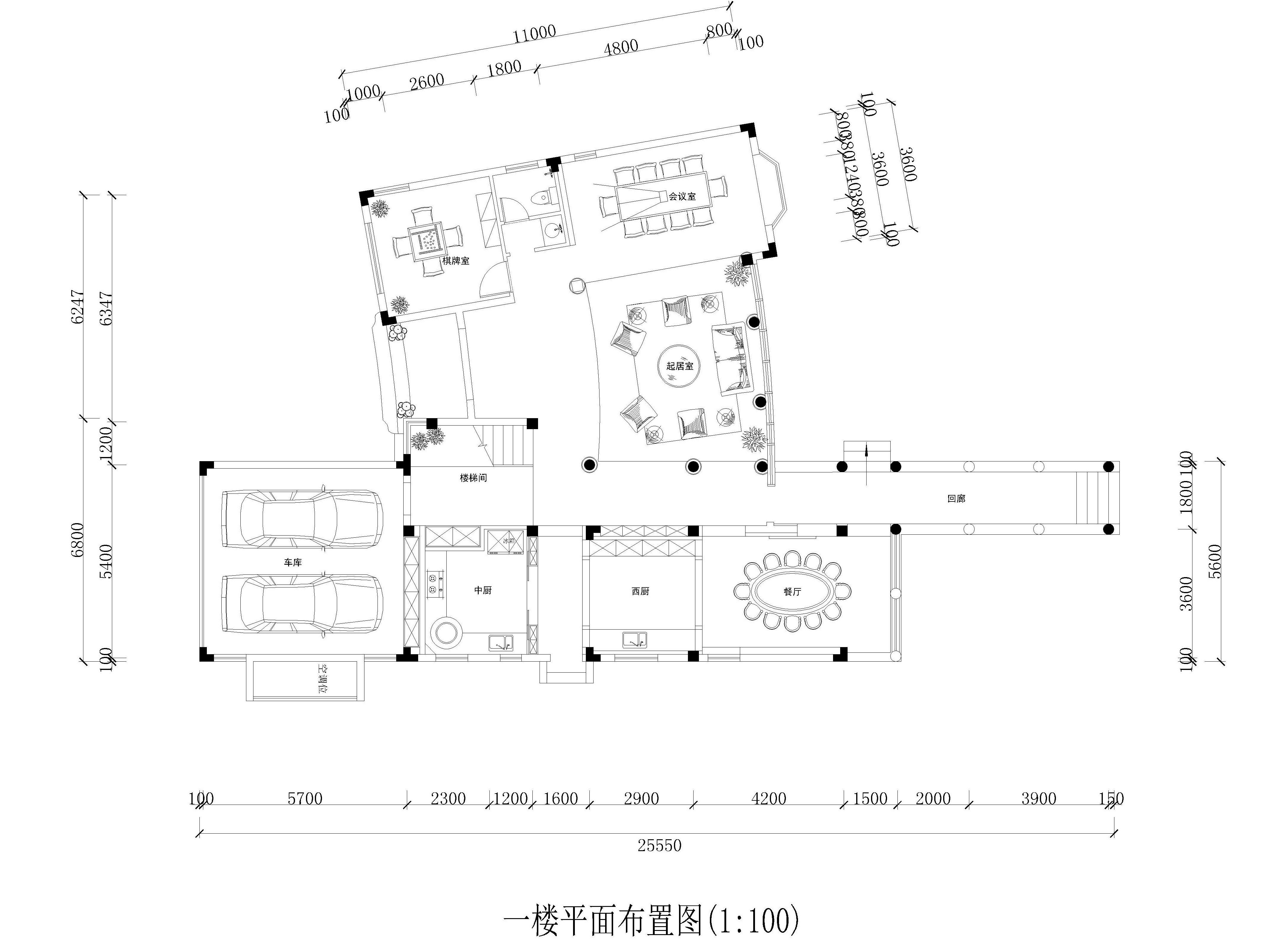 碧桂园_340平米别墅_中式风格_装修效果图装修设计理念