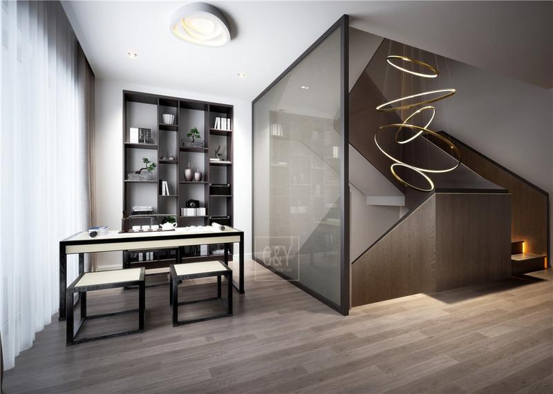 132平米美式简约风格装修-茶室