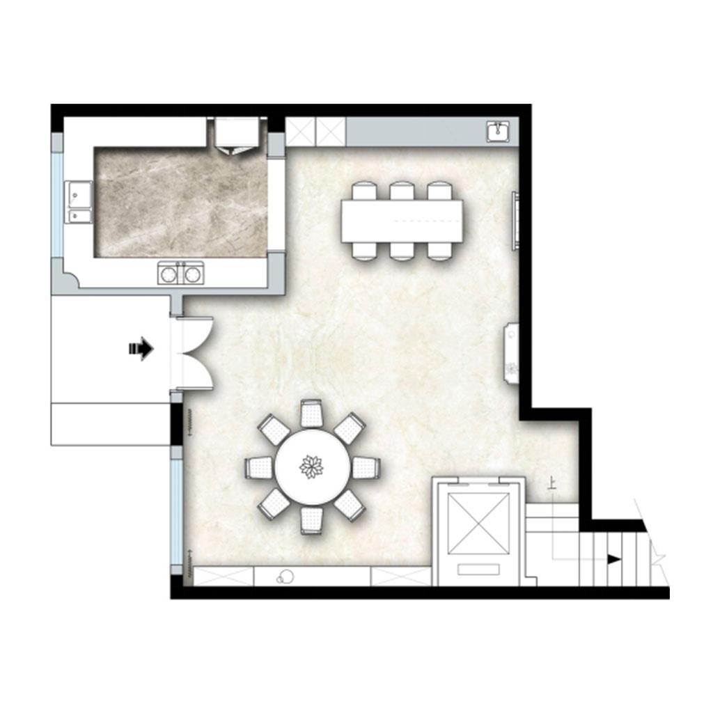 409㎡别墅地中海欧式混搭风格装修,惬意·浪漫装修设计理念