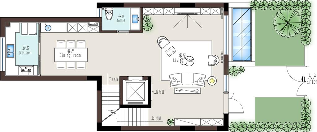 上海静安府350平米现代简约装修样板间效果图装修设计理念