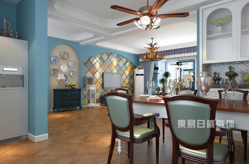 地中海风一室一厅装修效果图