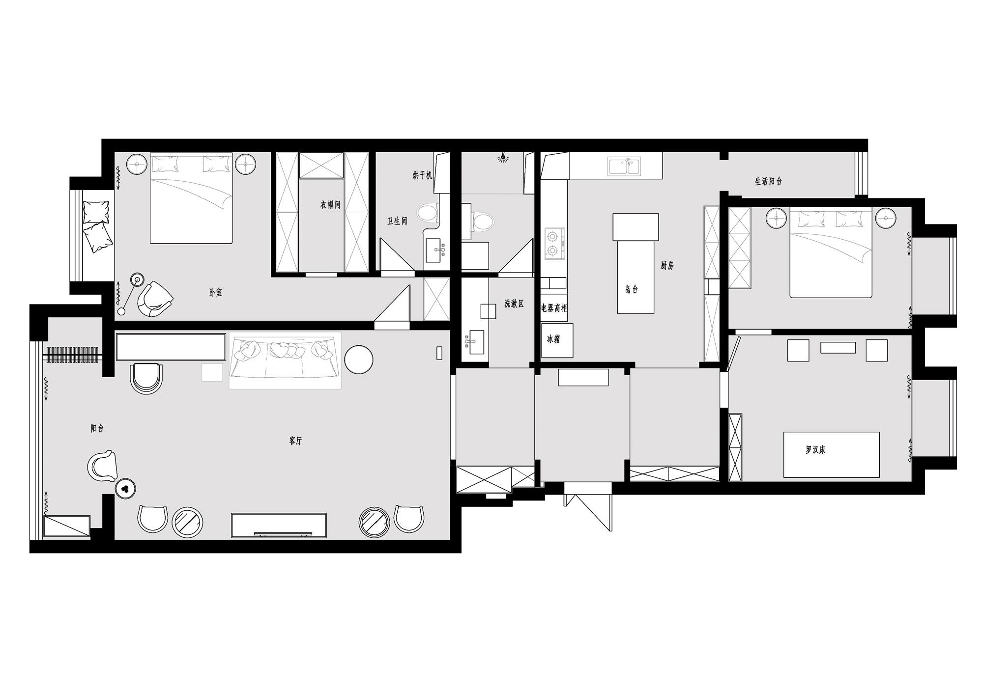 富贵园-100平米-欧式风格装修效果图装修设计理念