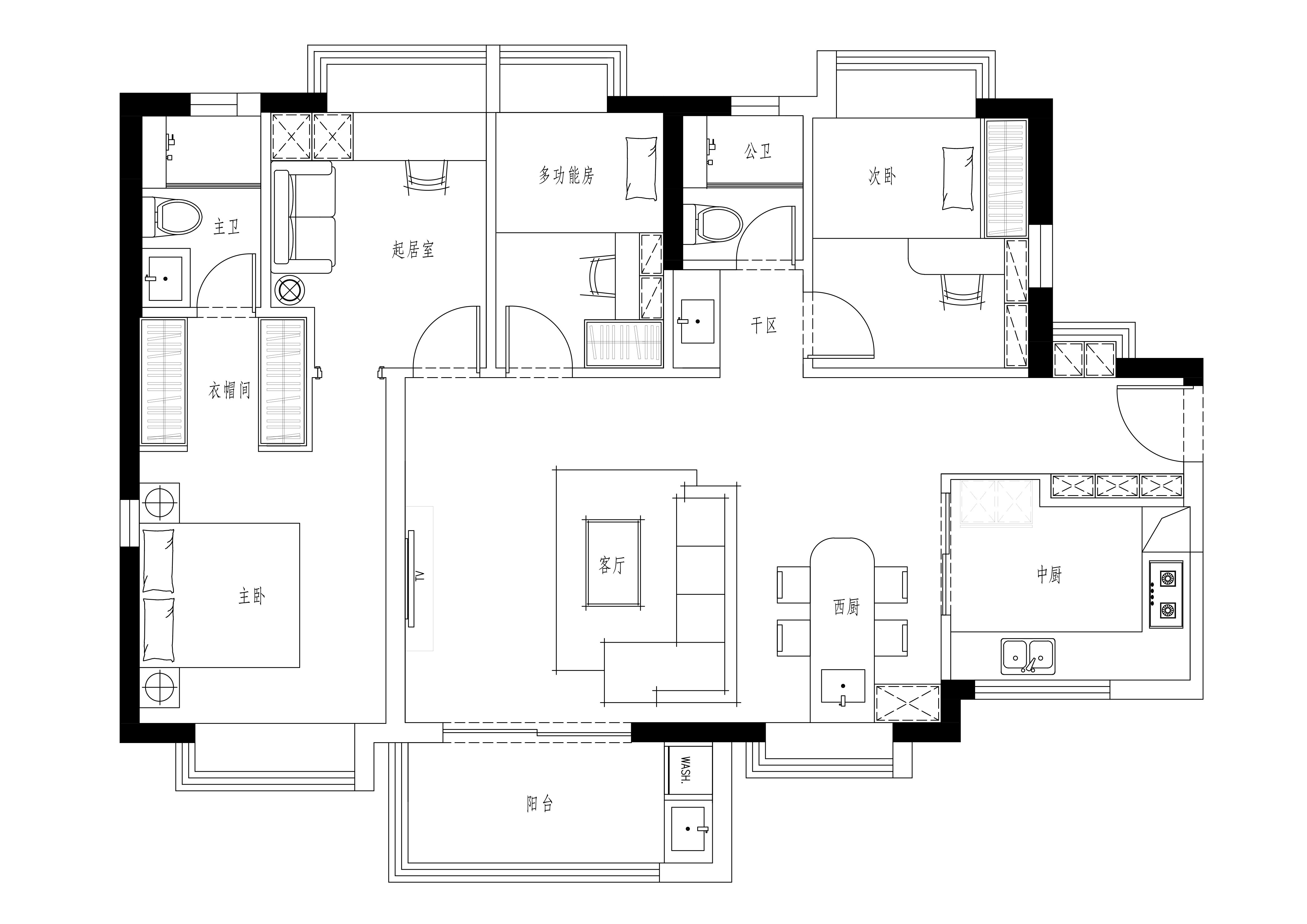 万科第五城109m²现代简约装修效果图装修设计理念