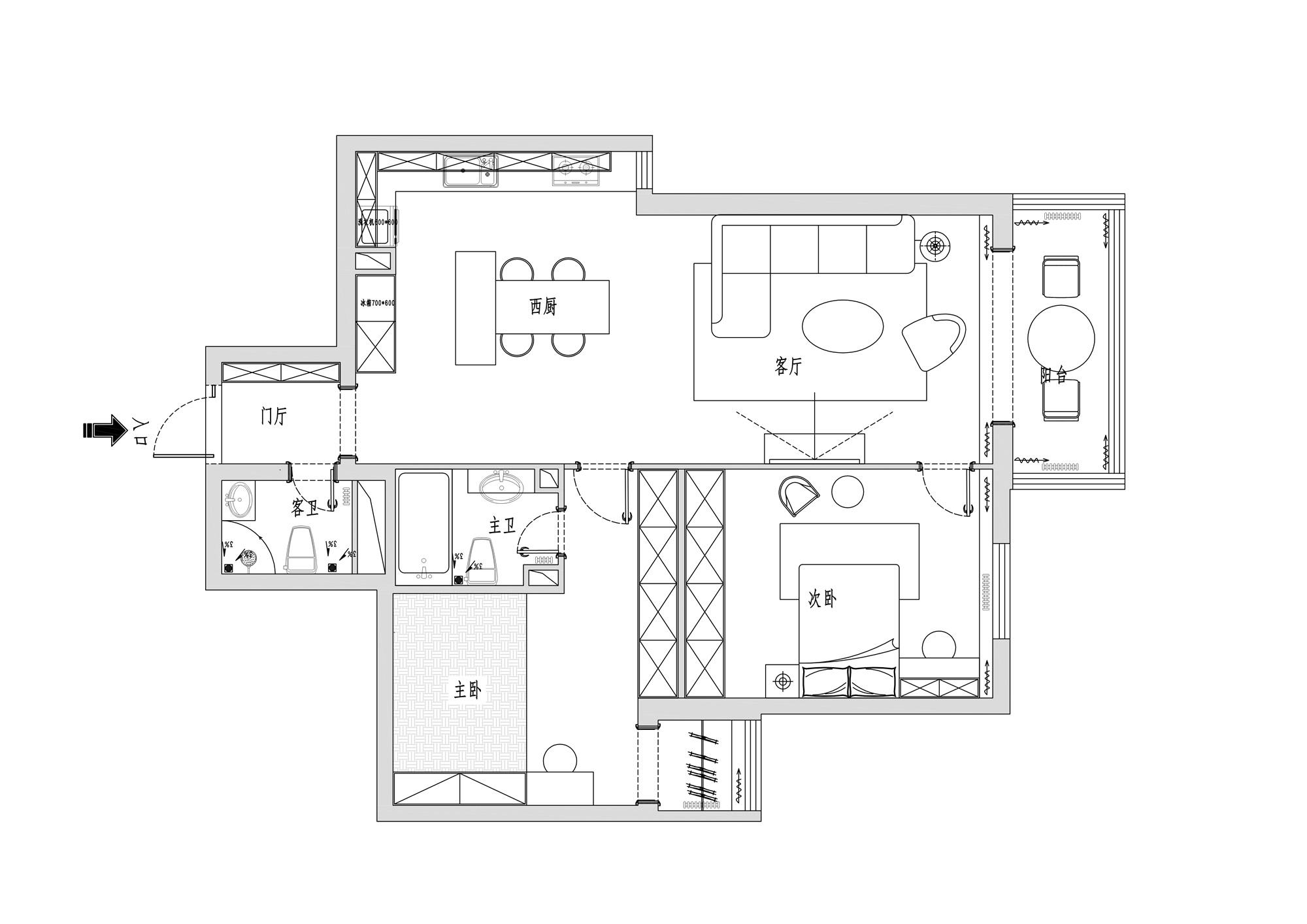 美丽园-117平米-现代风格装修效果图装修设计理念