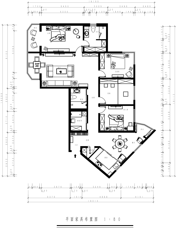 世纪城-163平米-新中式风格装修设计理念