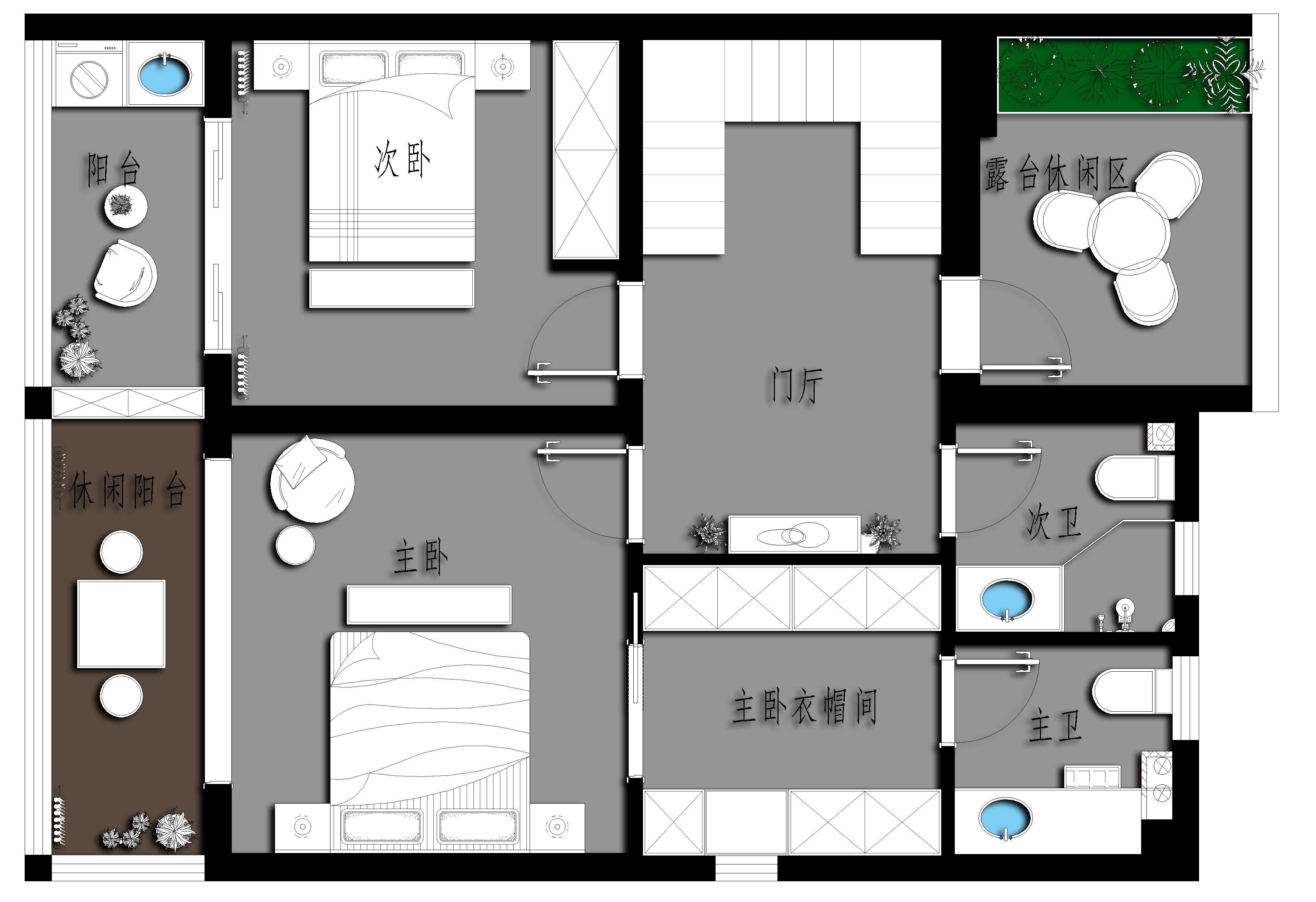 珠山小镇 159㎡ 新中式装修设计理念