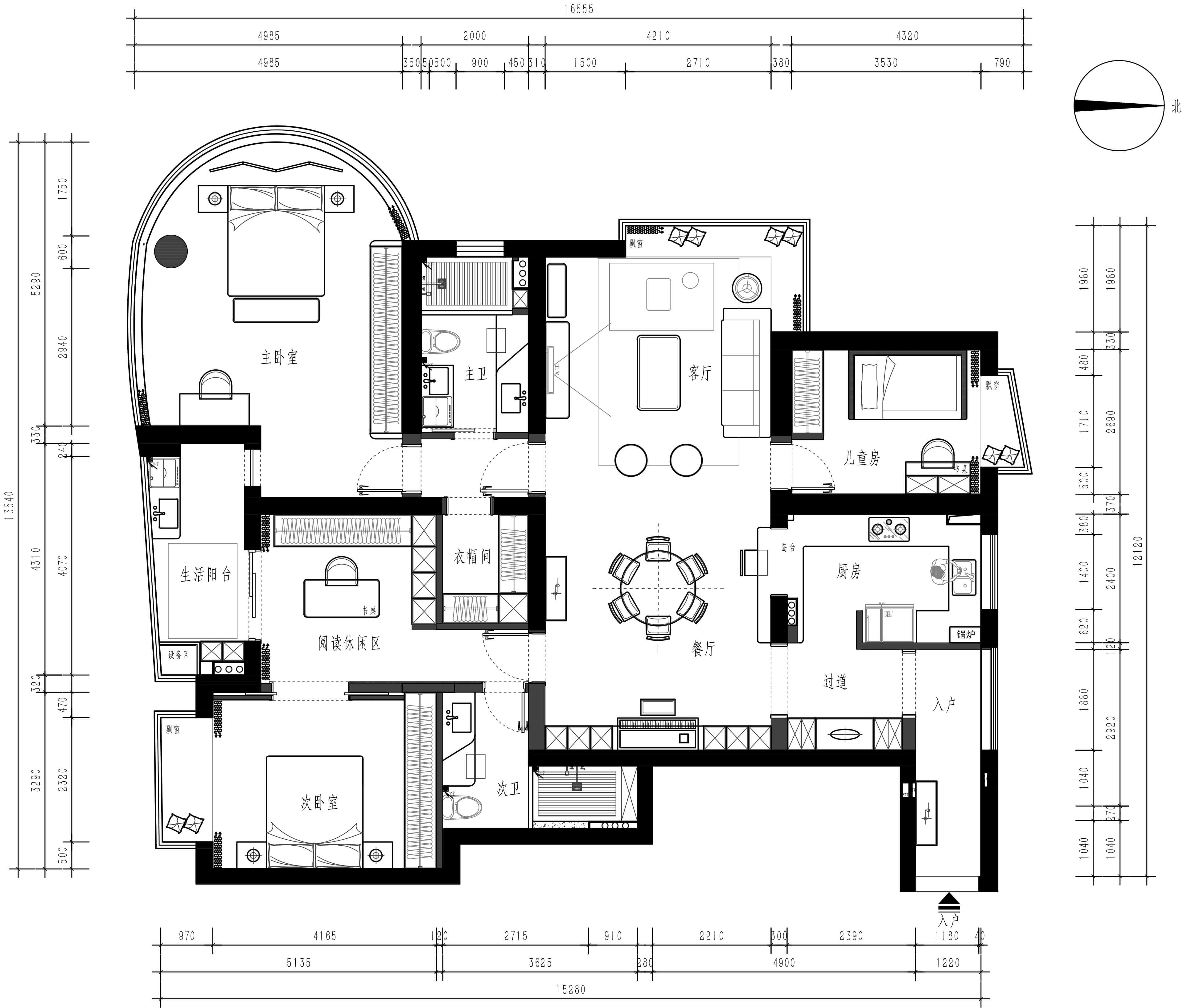 中凯城市之光-现代轻奢-165平装修设计理念