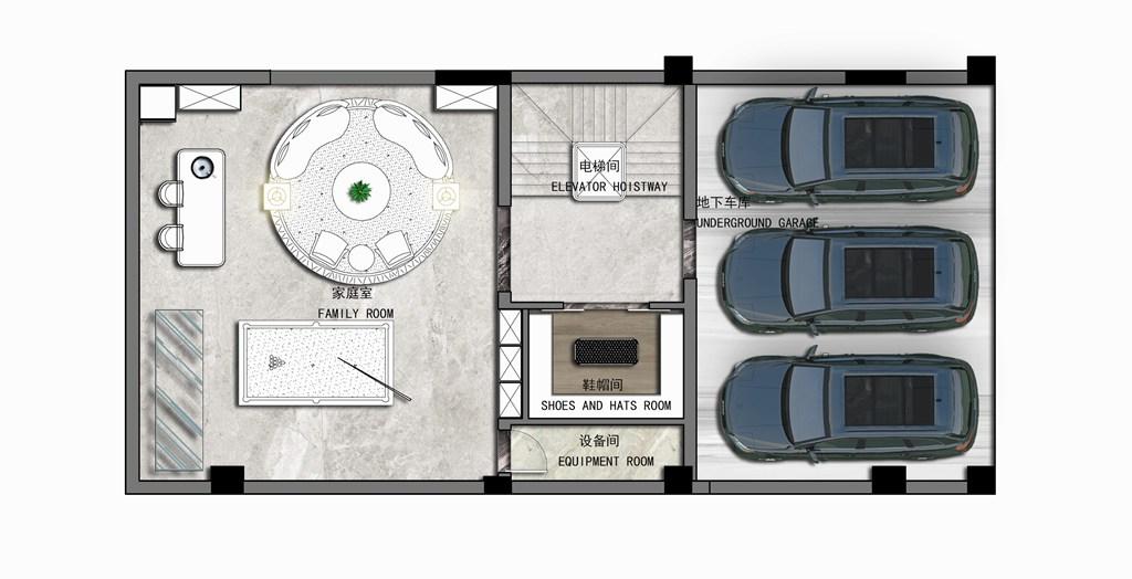 钰龙旭辉半岛400平米法式轻奢风格装修效果图装修设计理念
