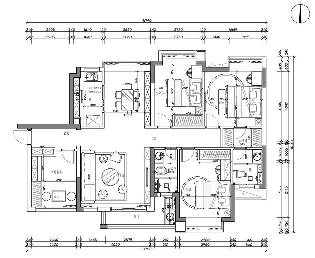 东莞凤岗锦龙湾畔-113㎡现代简约装修案例装修设计理念