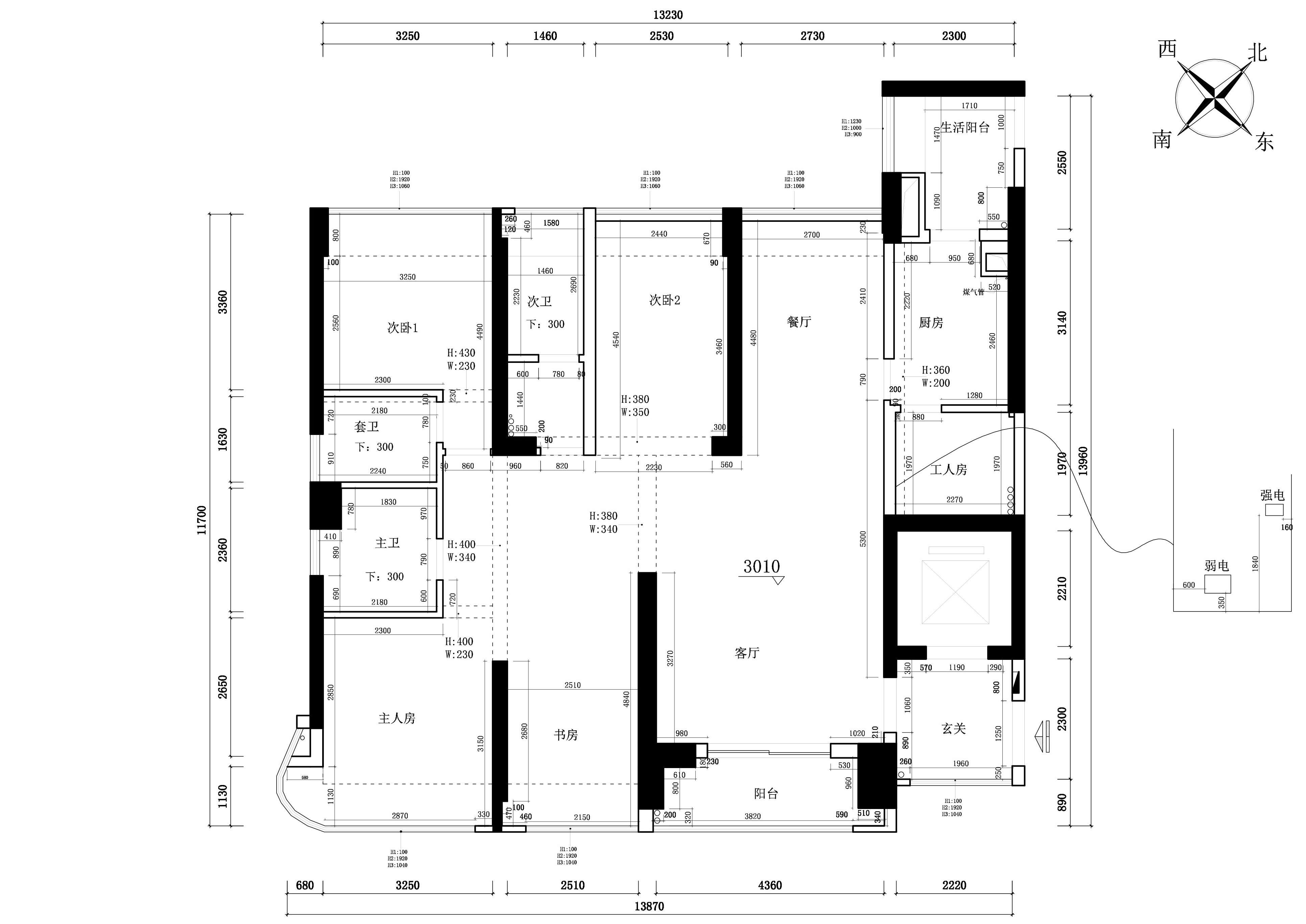 凯德公园1号168㎡-简欧风格设计案例-三居室装修效果图装修设计理念