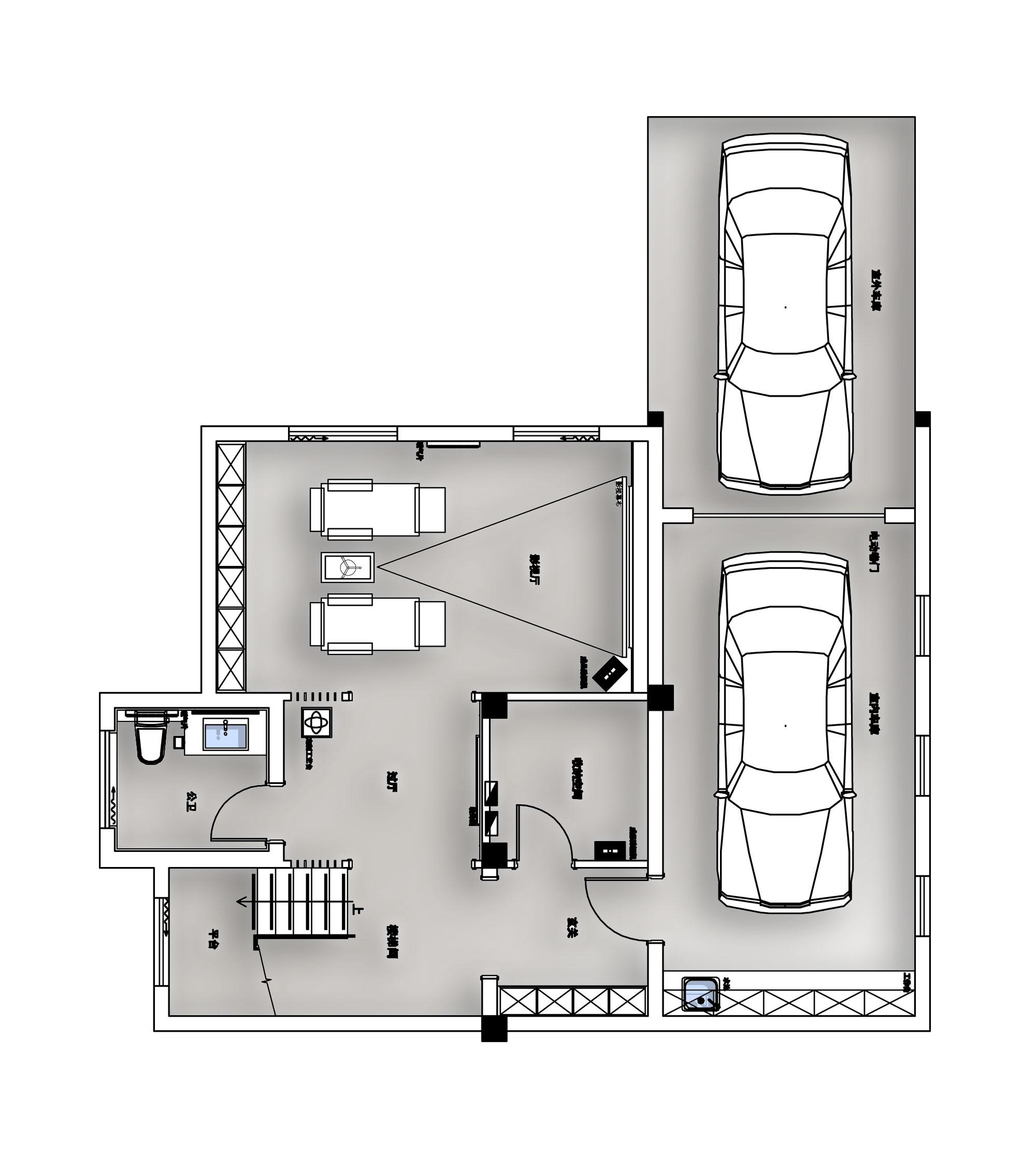中大易墅280平米现代简约风格装修效果图装修设计理念