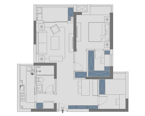 CBD楚世家100平米轻法式装修效果图装修设计理念