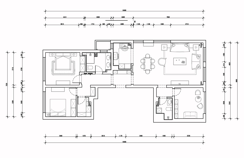 龙湖水晶郦湾-现代简约-150平装修设计理念