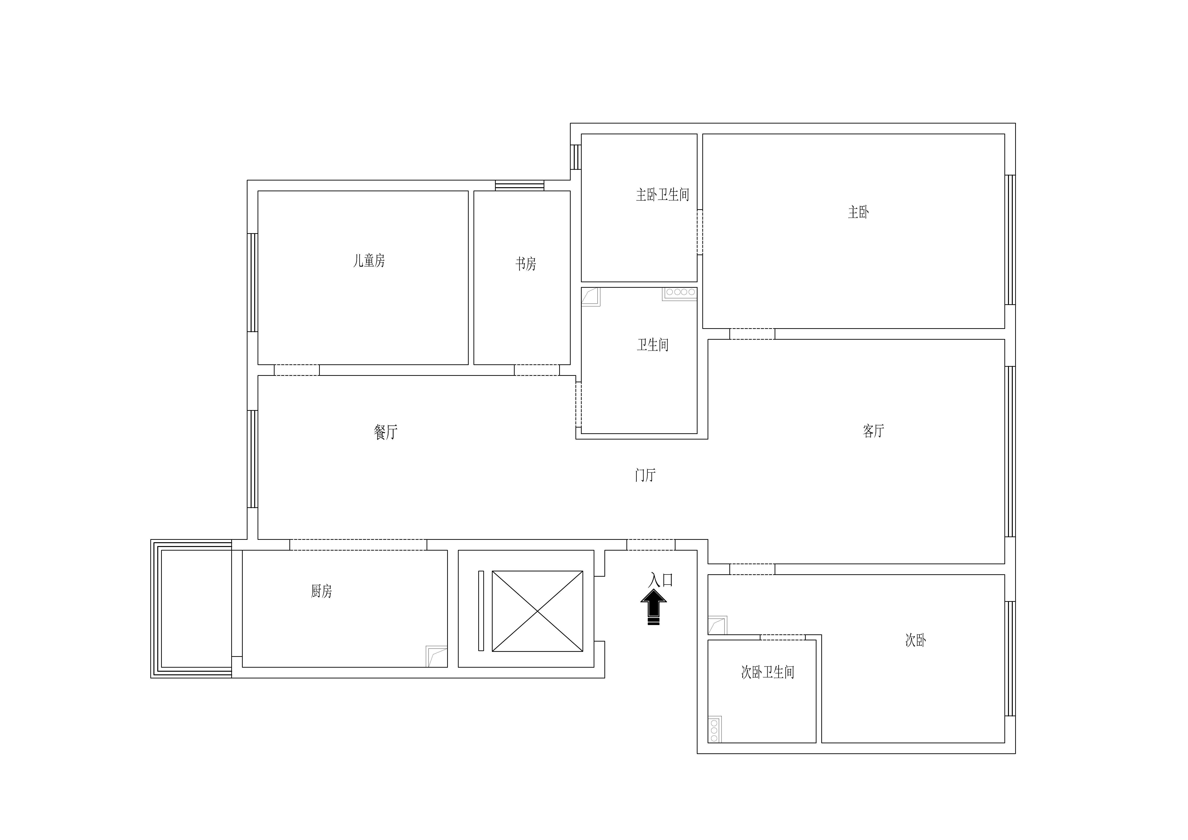 金府大院-148平米-现代轻奢风格装修效果图装修设计理念