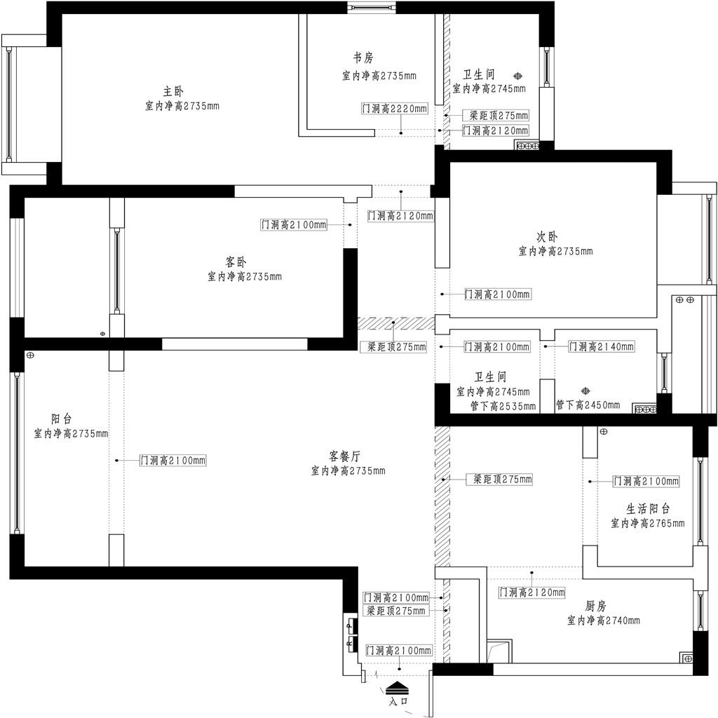 上海恒盛豪庭新中式风格146平米装修案例效果图装修设计理念