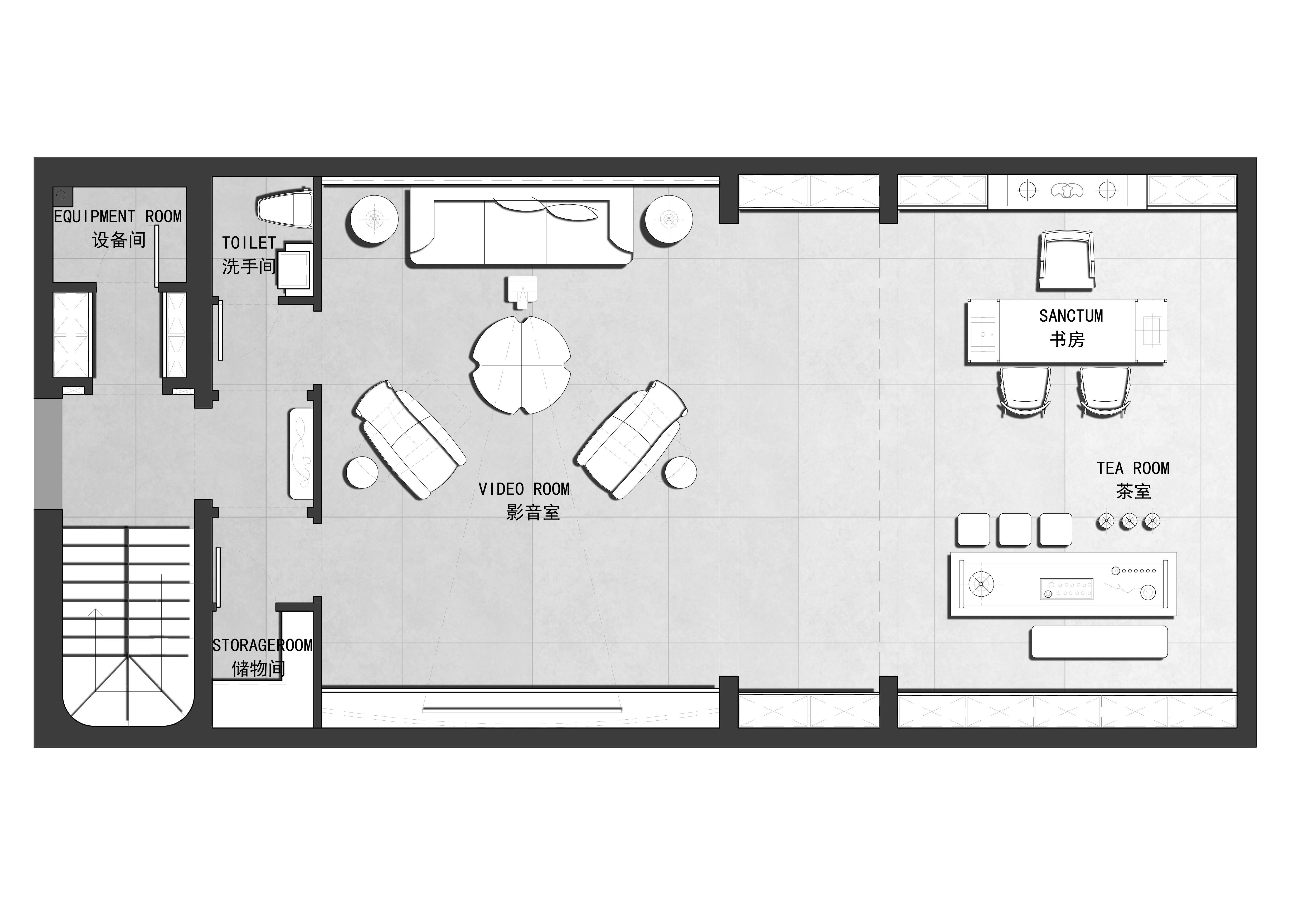 万科八栋墅-300㎡别墅-美式装修效果图装修设计理念