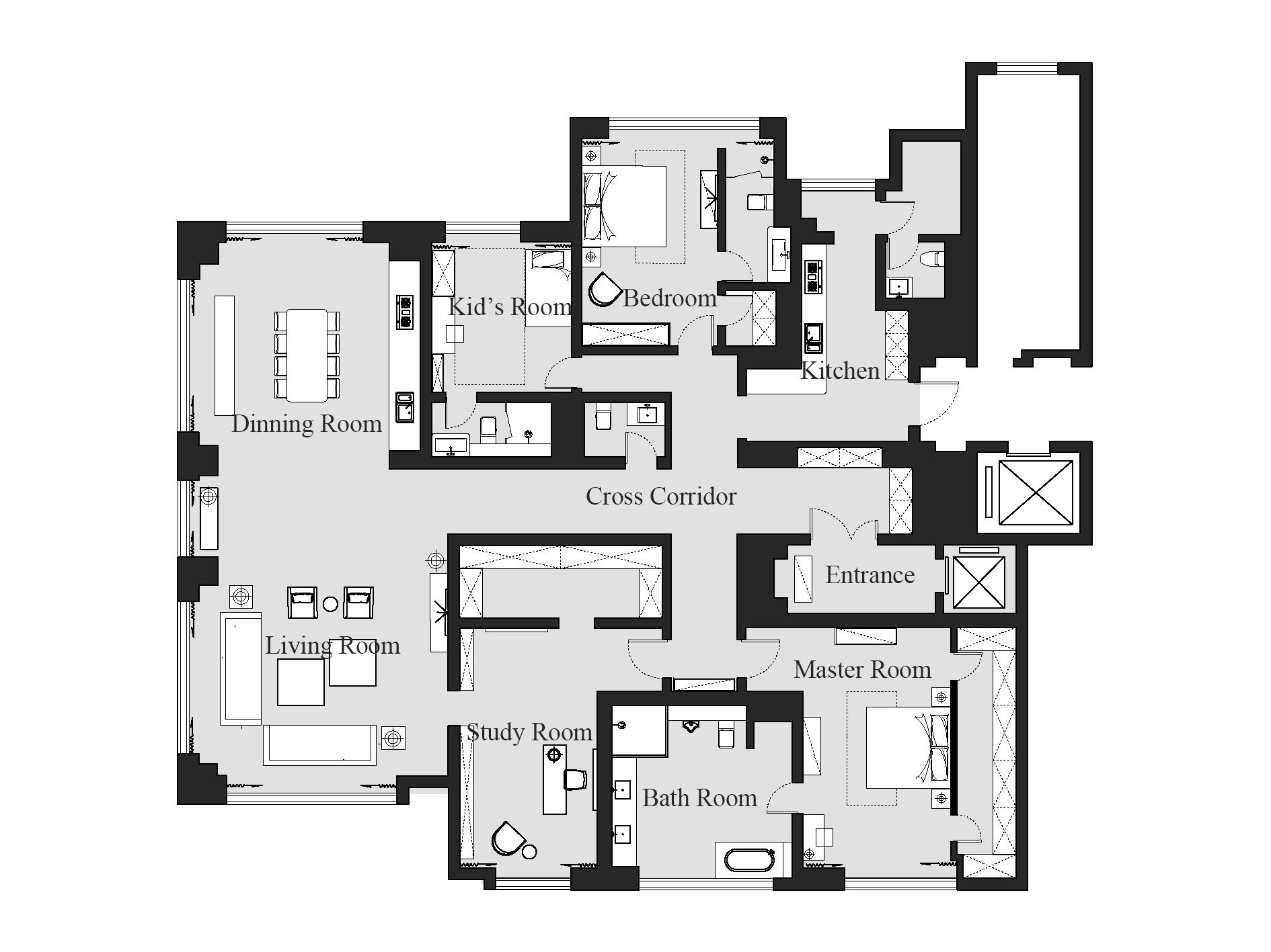 东山公寓-装饰艺术-390㎡装修设计理念