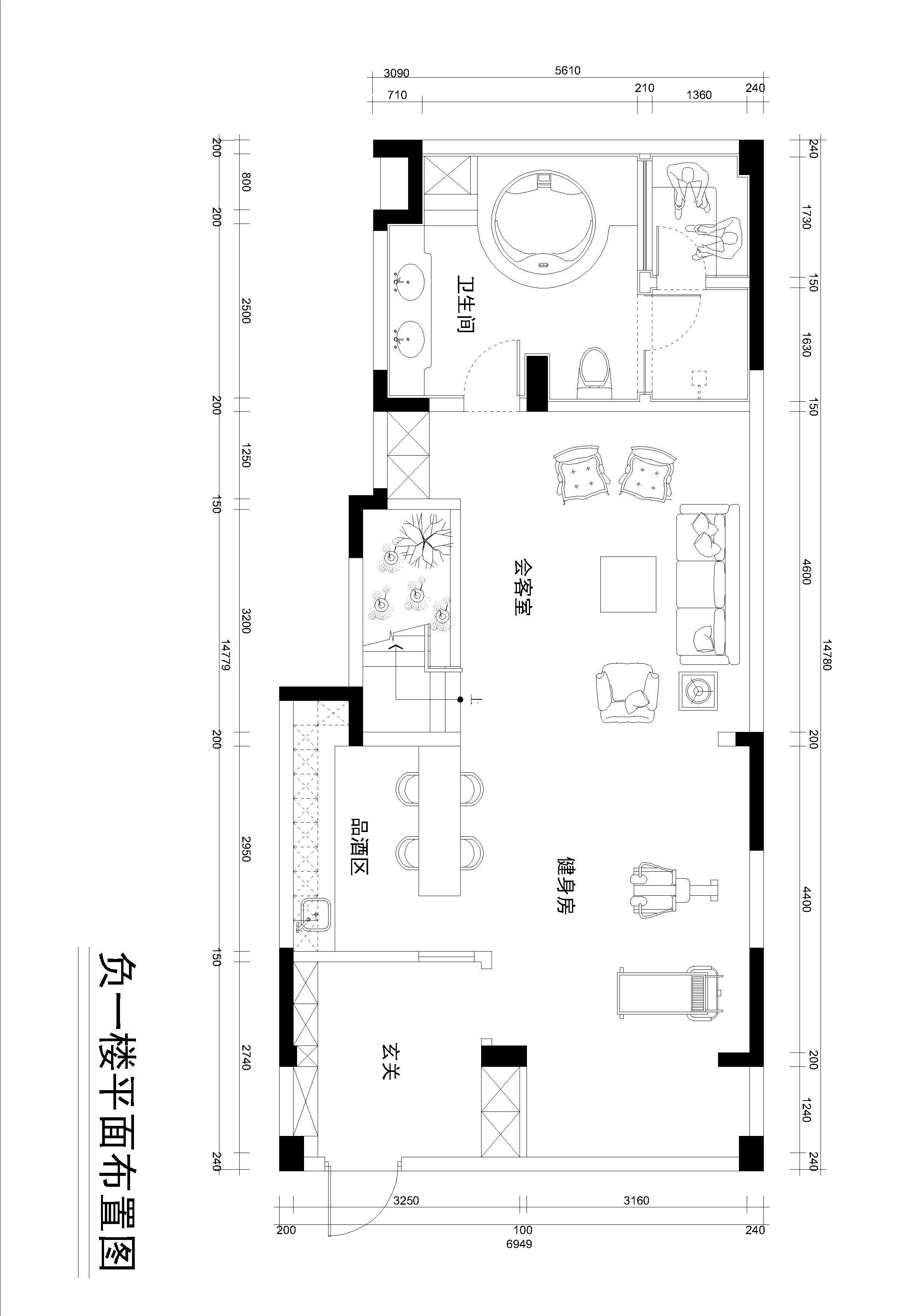 金华红星天铂16-2-101 460m² 现代中式装修设计理念