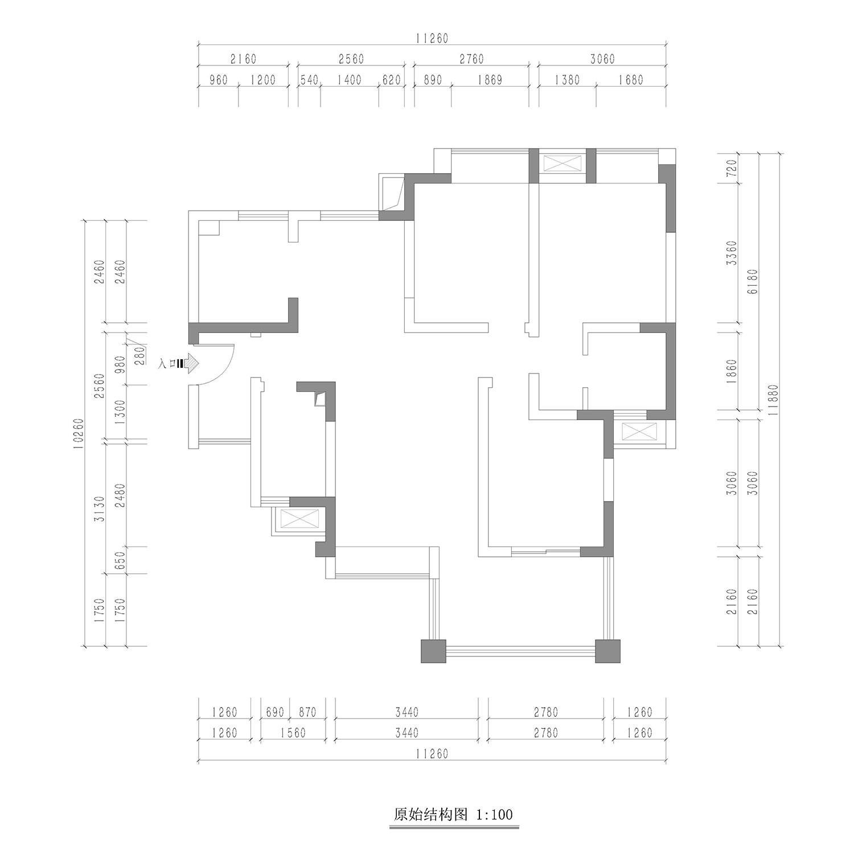 北欧风格装修效果图丨光华欣苑96㎡三居室装修案例装修设计理念