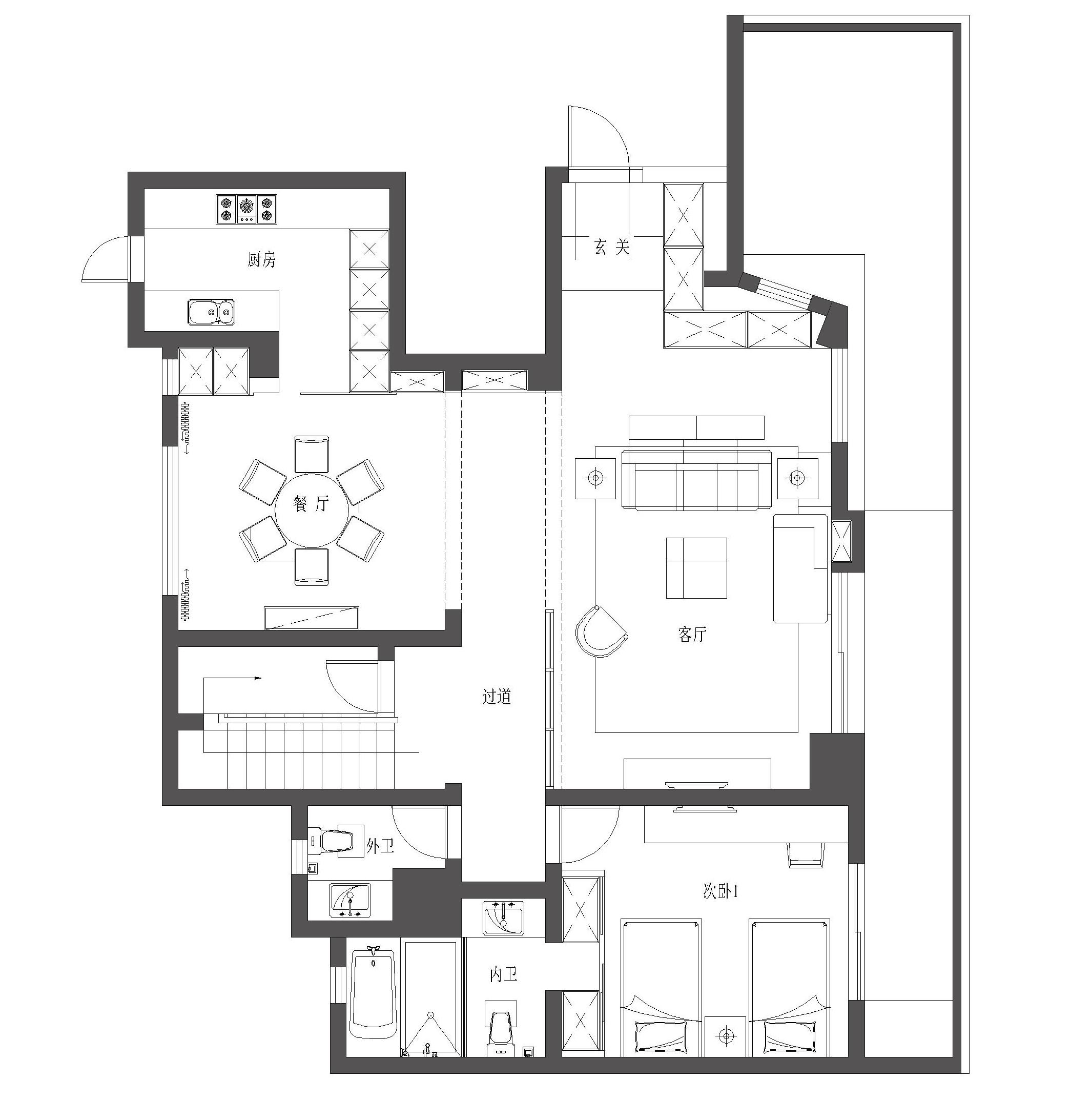140平-简欧风格-天域花园装修效果图装修设计理念