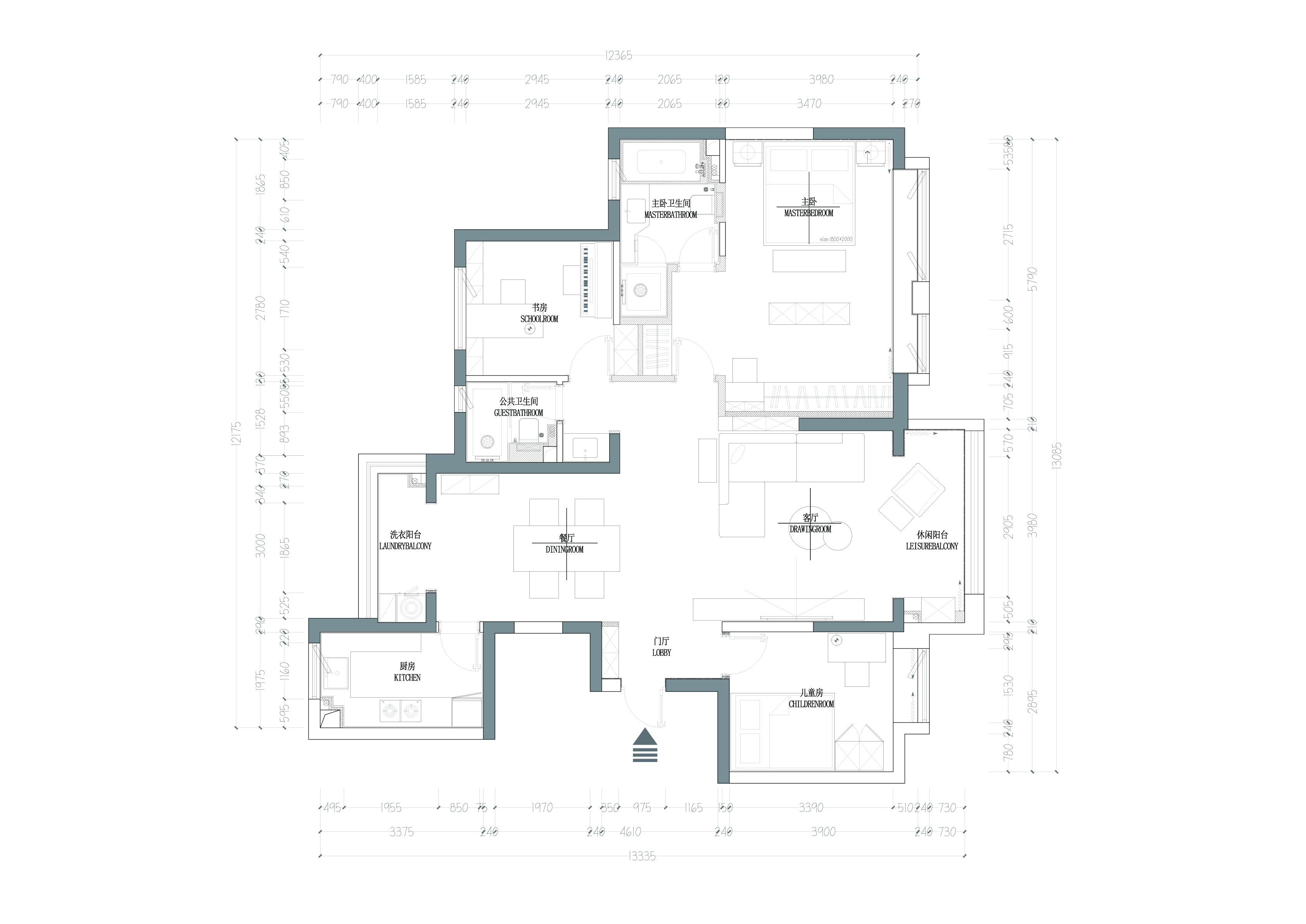 万达天樾 现代风格装修实景图 145㎡ 三室一厅 设计师苏宏博装修设计理念