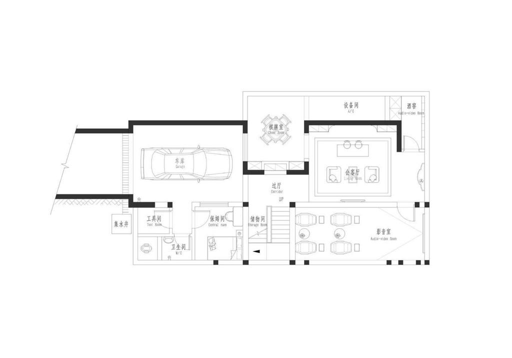 洞庭国际公馆450平米新中式风格别墅装修案例装修设计理念