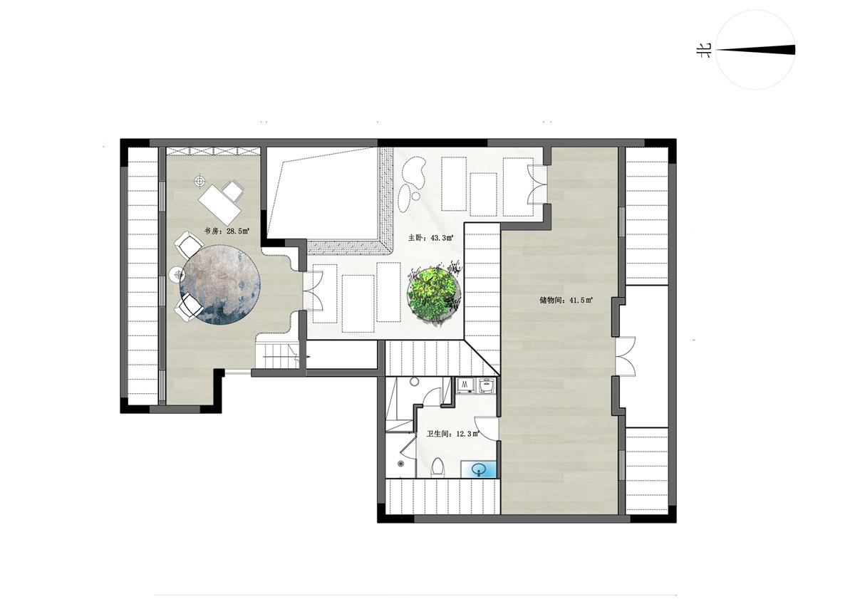 金鼎湾状元府247平别墅台式简约风格装修效果装修设计理念