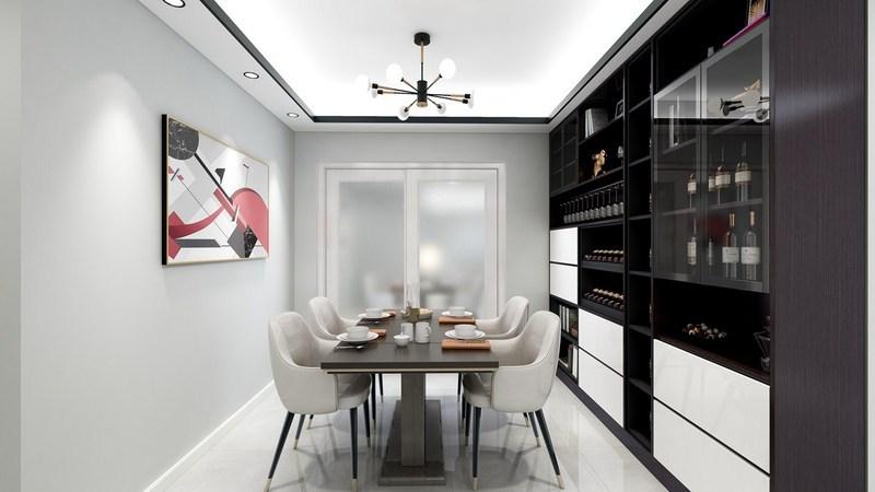 135平米四居室高端装修设计-餐厅