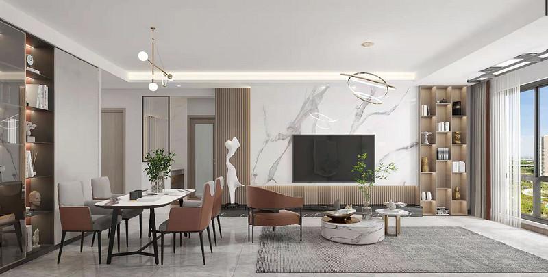客厅和餐厅连在一起装修效果图