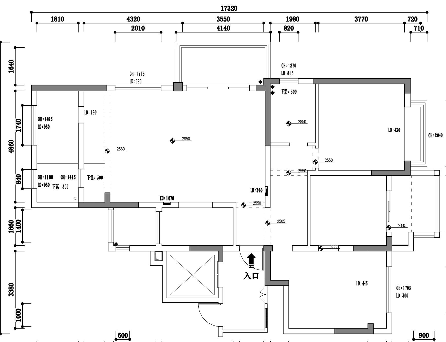 178平-欧式风格-龙湖时代天街装修效果图装修设计理念