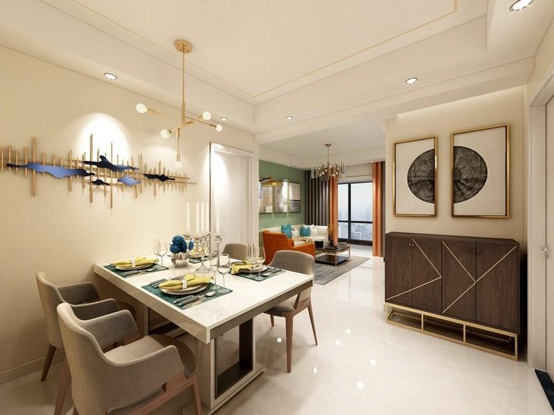 121平米的中式风格装修-餐厅