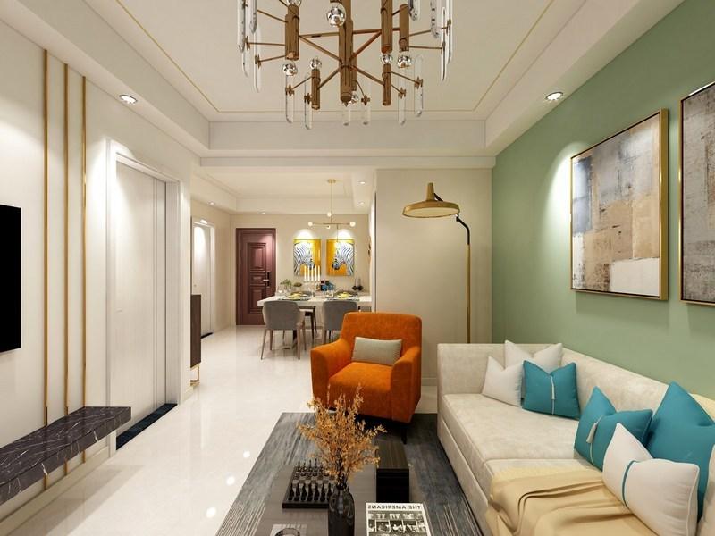 121平米的中式风格装修-客厅