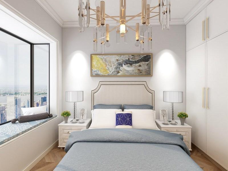 121平米的中式风格装修-卧室