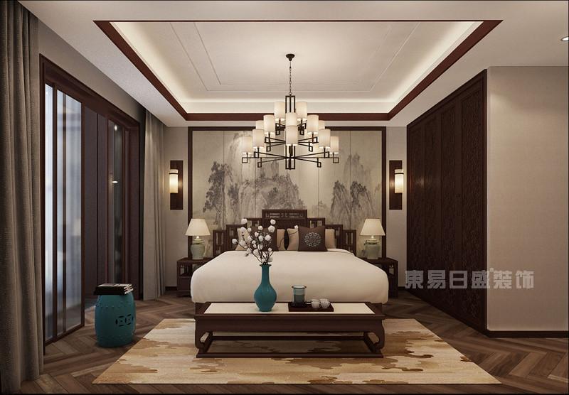 北京别墅装修-卧室效果图
