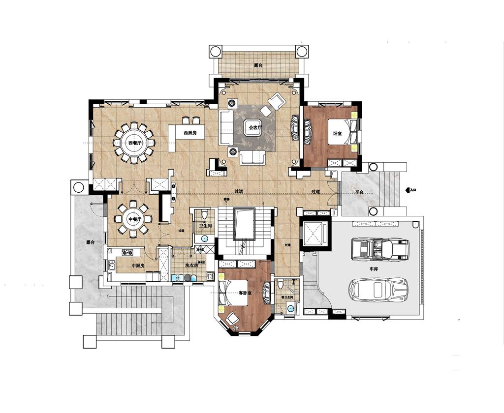 合生东郊欧式风格800平别墅!装修设计理念