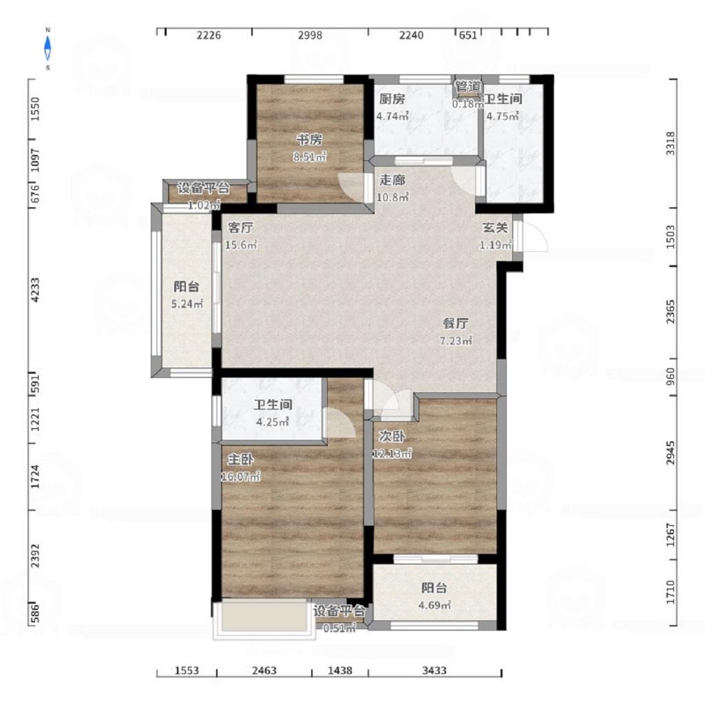 华润橡树湾125平米新中式风格装修效果图装修设计理念
