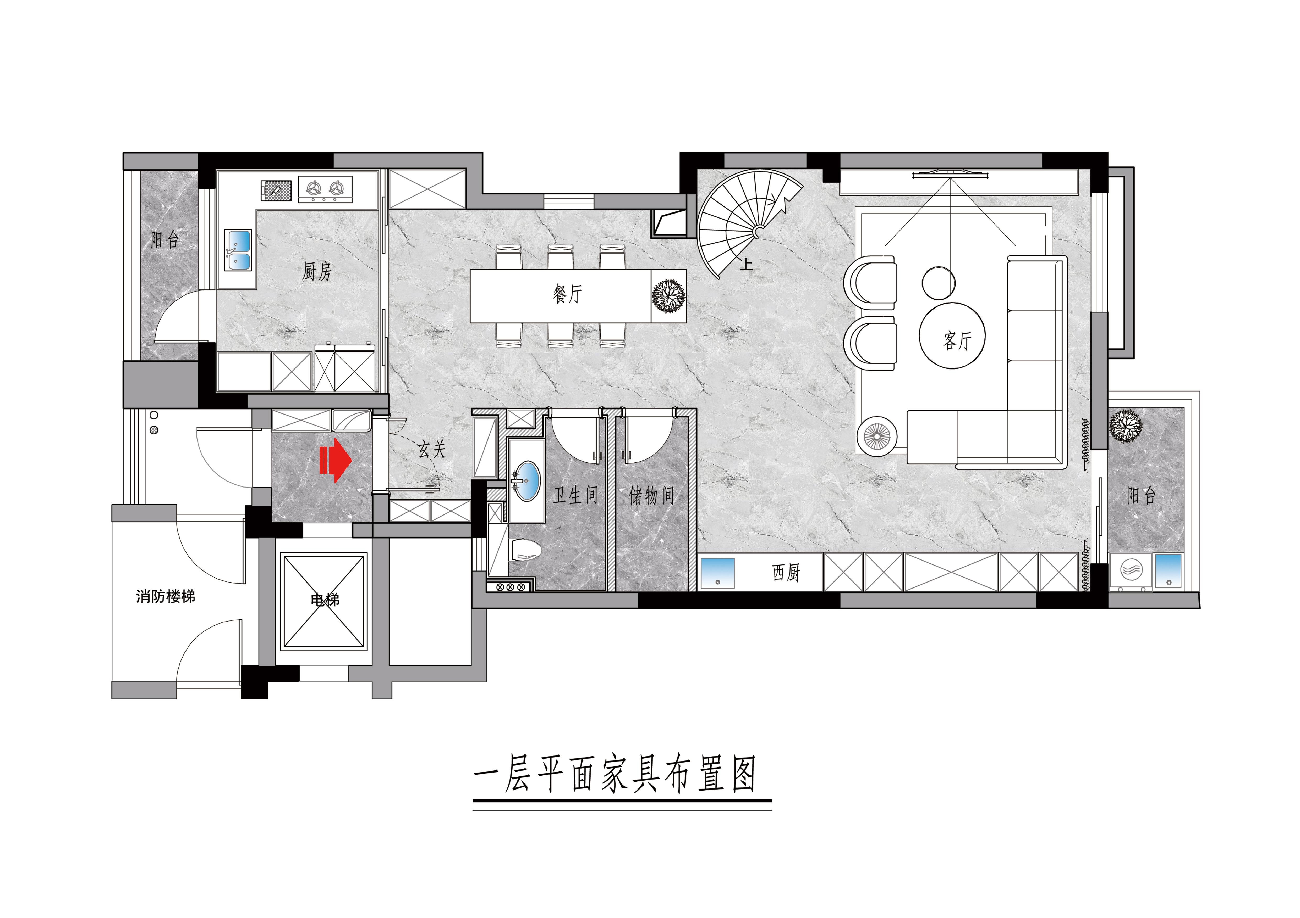 三居室187㎡现代简约案例效果装修设计理念