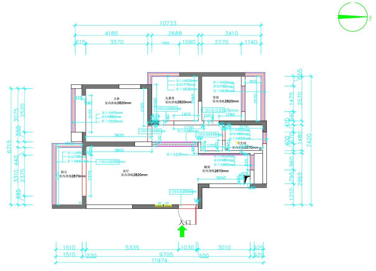 城建琥珀蜀熙府97平北欧风格三室两厅装修效果图装修设计理念