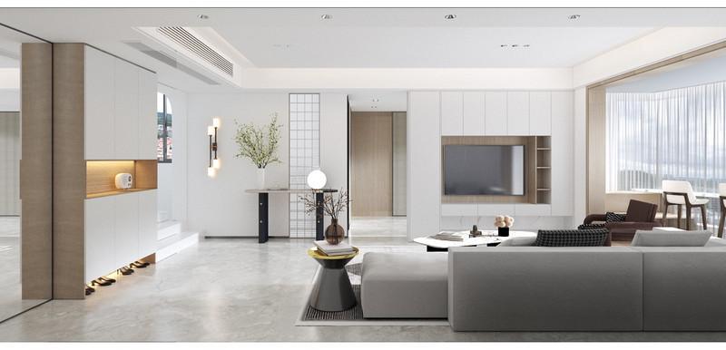 现代日式简约怎么设计?166平米四室装修设计案例