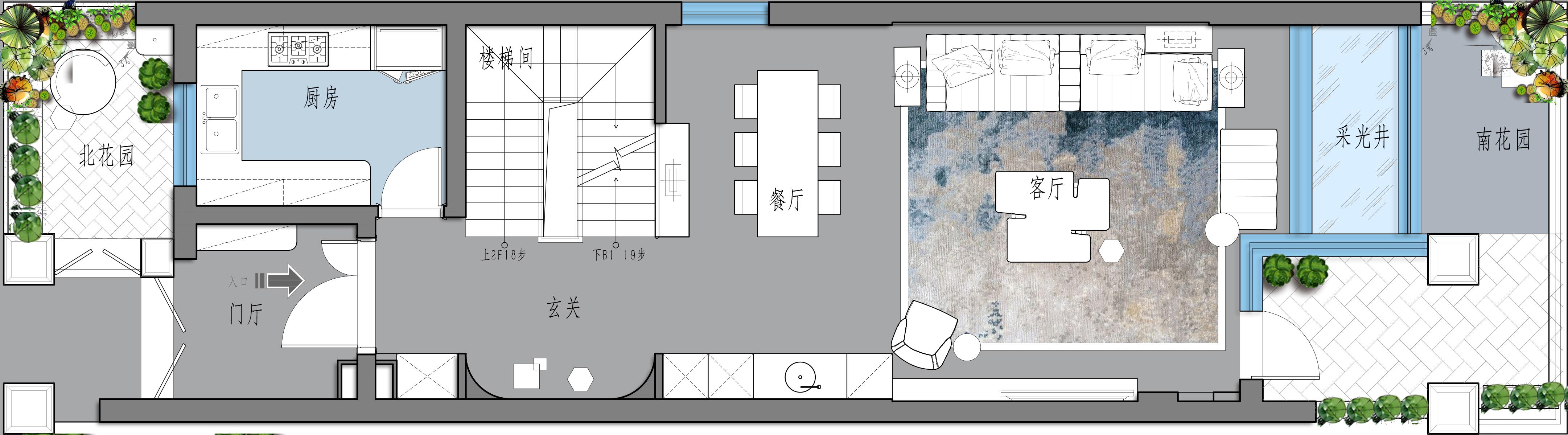 上海湖畔天下347平现代混搭风格装修案例效果图装修设计理念