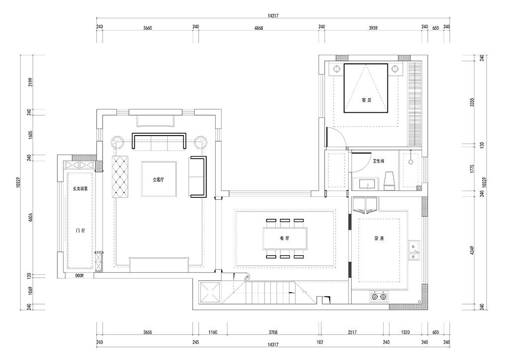 金地澜菲溪岸310平米美式古典叠拼别墅装修效果图装修设计理念